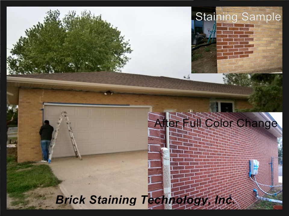 Full color change, brick staining